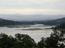 View of the Chagres River in Gamboa, Panama.