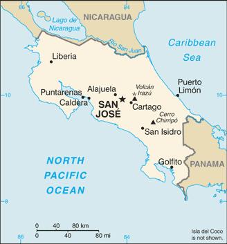CIA-Costa Rica Map