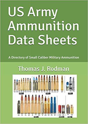 US Military Ammuniton Data sheets book cover