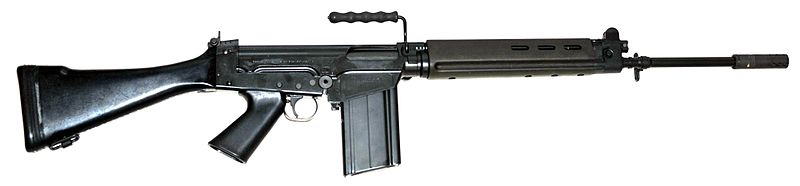 A Belgian FN -Fal rifle, 7.62 MM